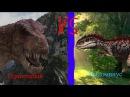 Неделя Тиранозавров Одноглазый VS Индоминус Рекс Битвы Титанов сезон 1 серия 2