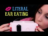 ASMR ☾ Literal Ear Eating Test ~ Noms, Mouth sounds, Licking, Tongue Shaking