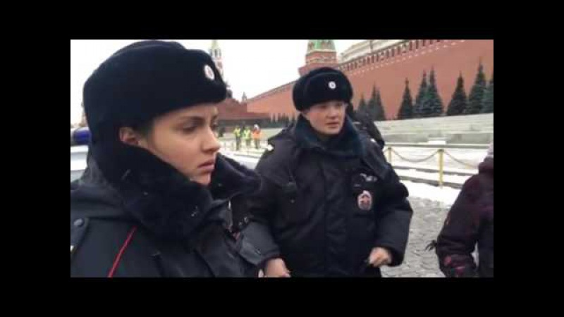 Полиция задержала Отряды Путина на Красной площади