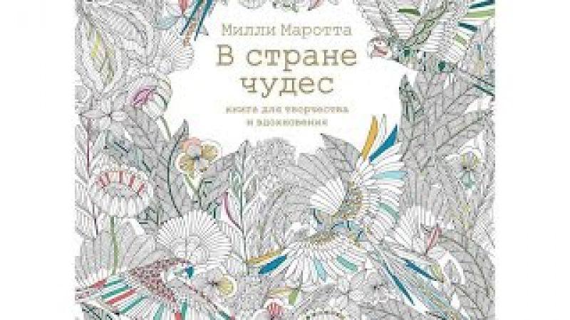 Видео обзор книги для творчества и вдохновения Милли Маротта В стране чудес