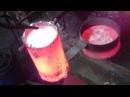 Горн для плавки алюминия на отработке