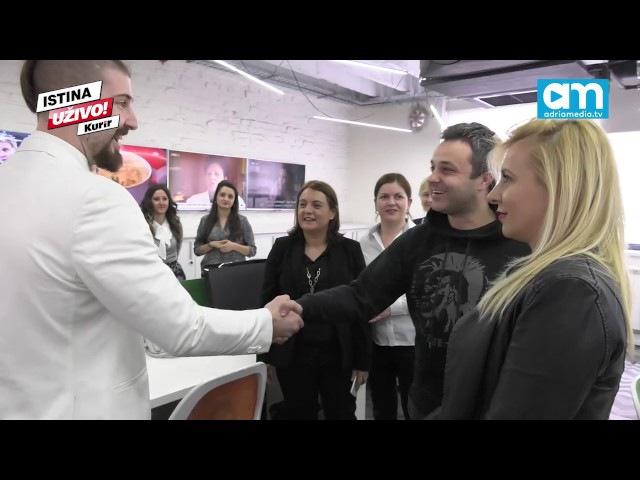 (KURIR TV) LJUBIŠA PRELETAČEVIĆ BELI U POSETI ADRIA MEDIA GRUPI: Stvarno ste jaki!