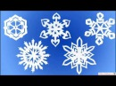 Снежинки из бумаги Paper Snowdrops