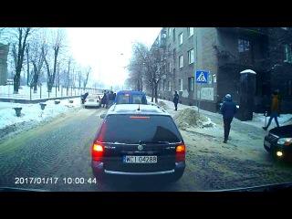 ДТП Львов 17.01.2017.Наезд на пешехода.