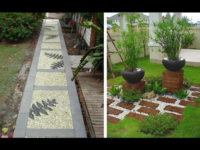 Садовые дорожки на даче из разных материалов