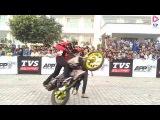 most amazing apache rtr stunts power drift bike stunts and actions