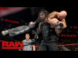 Roman Reigns vs. Luke Gallows &amp Karl Anderson - 2-on-1 Handicap Match Raw, Feb. 13, 2017