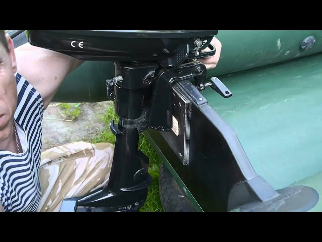 Как подогнать мотор под лодку. How to fit the motor under the boat