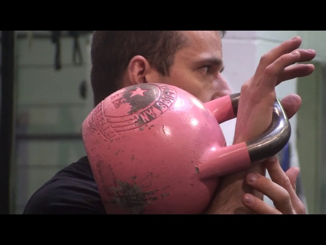 Hand insertion tips and proper handle position for kettlebell lifters from Denis Vasiliev