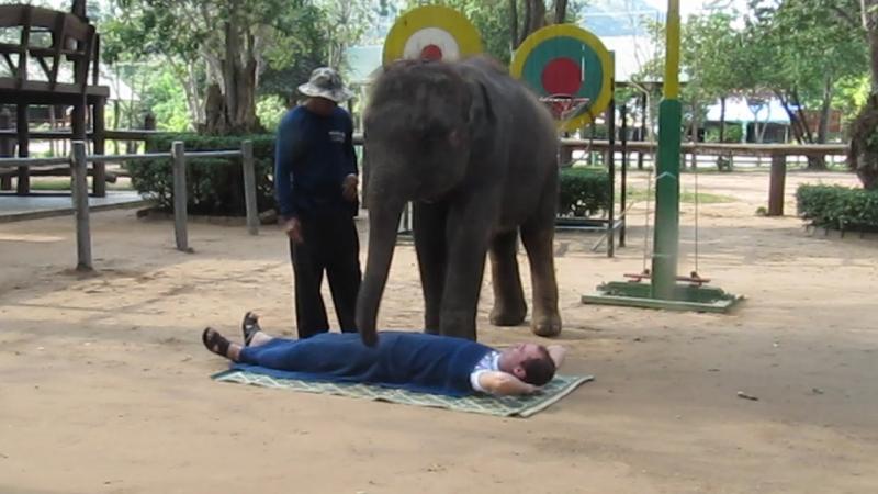 Слоновый массаж))