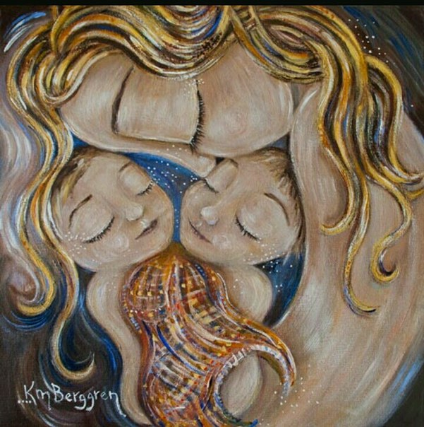 Картинки мама с двойняшками нарисованные, летнего
