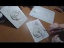 Рельефная скульптурная живопись декоративной штукатуркой. Работа мастихином
