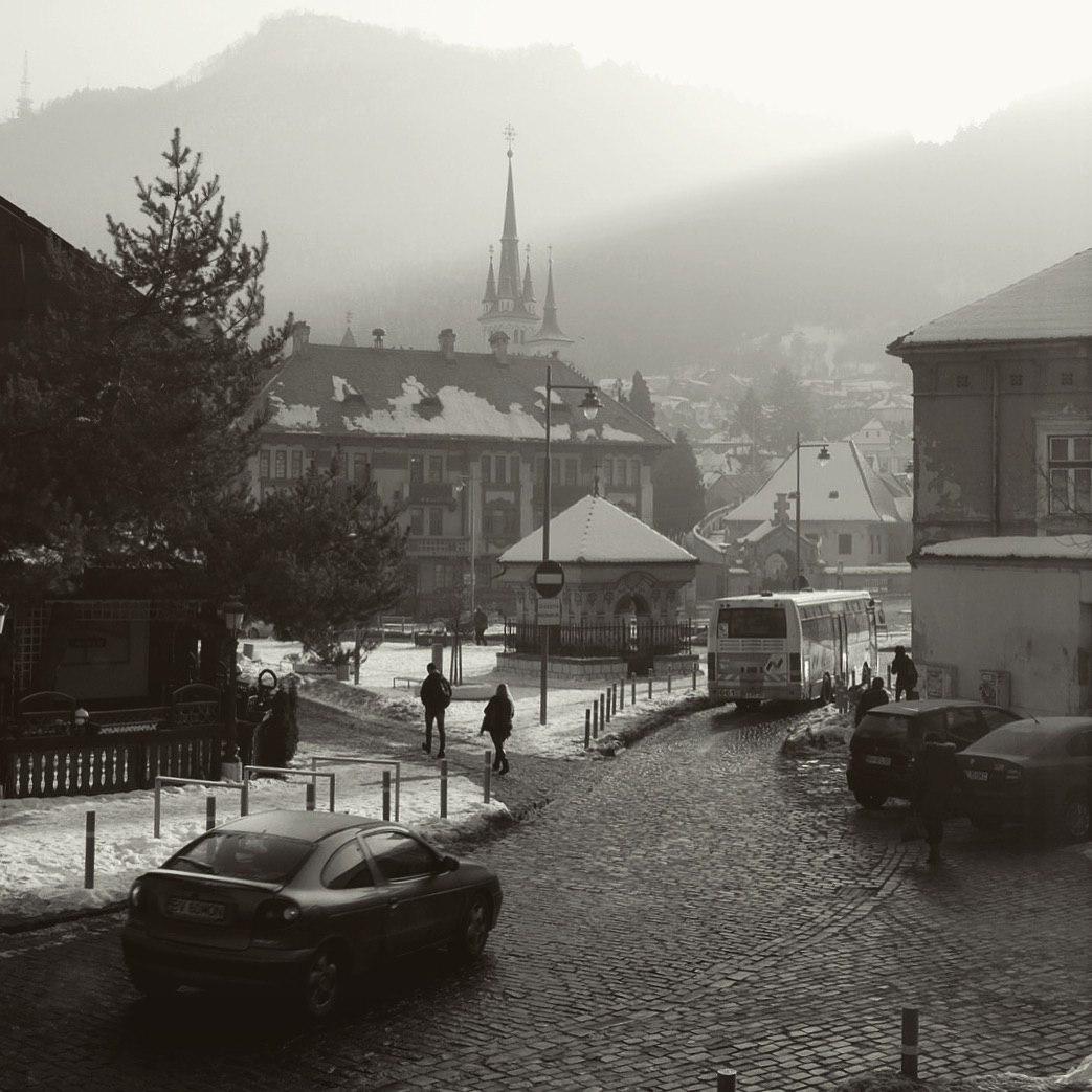 Брашов Румыния - вид на старый город