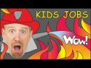 Jobs for Kids Jobs Song from Steve and Maggie | English Stories for Kids
