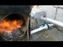 Модернизированный газогенератор, пуск на влажных дровах .