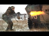 Ukrainian Soldiers in Action During Winter Combat Training with US Army