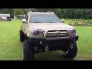 Toyota Tacoma 22x14 Fuel Forged Super Swamper Boggers Custom Headlights Wheel Lights
