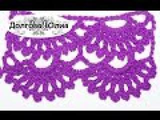 Вязание крючком. Схема ажурного узора 2 crochet
