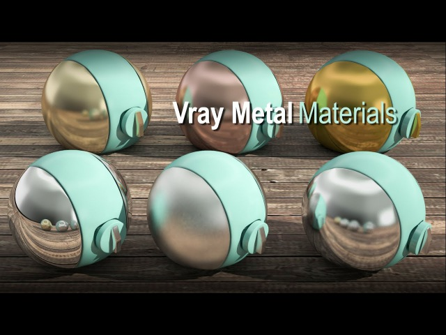 3ds Max Vray Realistic Metal Material