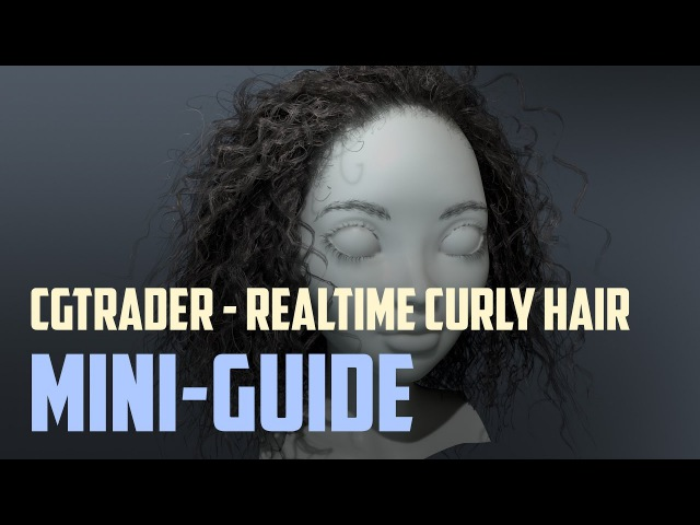 Ornatrix realtime curly-hair mini-guide for the hair model (EN-RU subs)