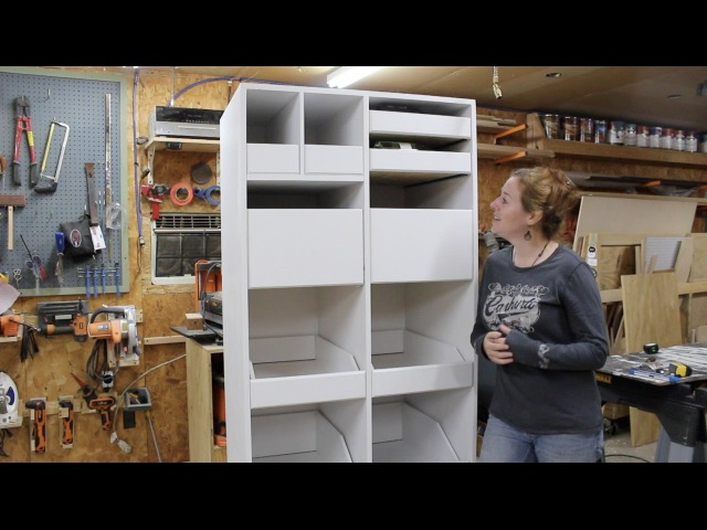 Building a Freestanding Pantry with Pull Out Drawers
