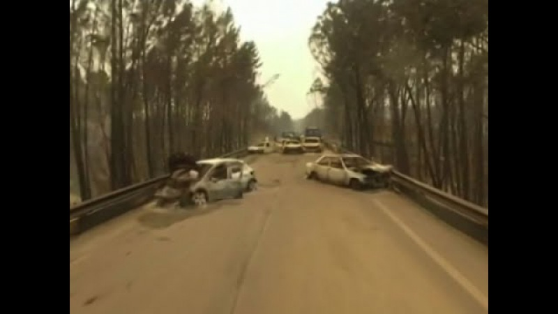 Drone Shows Destruction of Deadly Portugal Fire
