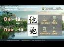 Урок китайского языка 1. (начальный уровень 入门上) Простое предложение из двух сл