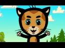 Как зверушки говорят - Три котенка - теремок тв: песенки - мультики (развивающие и ...