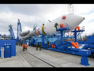 Вывоз РКН «Союз-2.1б» на стартовую позицию космодрома Плесецк