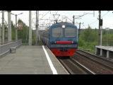 Электропоезд ЭД4М-0273 платформа Кашино