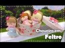 CHAVEIRO DE BONECA EM FELTRO com Fabi Médico - Programa Arte Brasil - 06/10/2016