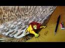 Walt Disney | The Lion King | Король Лев | Speed Painting - Mufasa (Drawing 3D optical illusion)