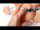 Como bordar ojos para muñeca amigurumi By Petus