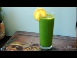 Summer smoothie with pineapple mango spinach ginger lemon ice summer smoothie