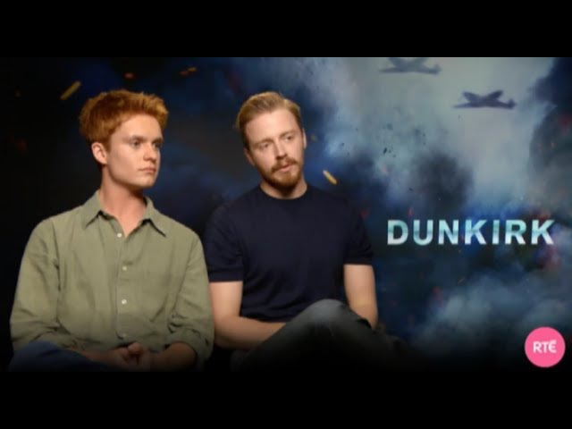 Jack Lowden w/ Tom Glynn Carney — Dunkirk — Interview for RTE