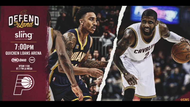 Game 2: Cleveland Cavaliers vs Indiana Pacers on Quicken Loans Arena 17.04.2017