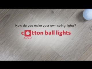 How do you make your own string lights