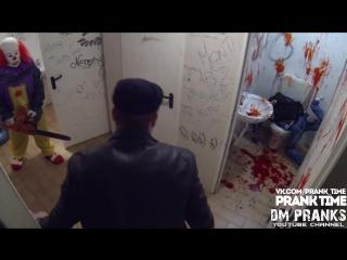 Убийца клоун - резня бензопилой!