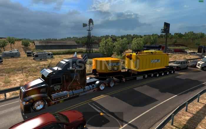 Трейлер с тяжёлым трансформатором Caterpillar, массой 70 тонн. для 1.4.х