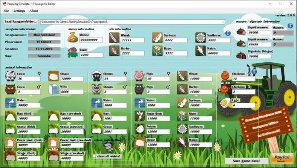 Редактор сохраненных игр версии v2.0.0