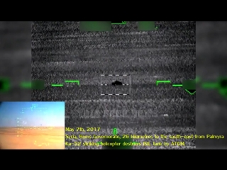 Подборка работы Ка-52 ВКС по технике боевиков под Пальмирой в Сирии