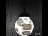 Подвесной светильник - луна (15см в диаметре). Lampa_la_luna