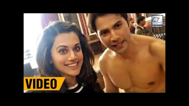 Varun Dhawan Taapsee Pannu's LIVE VIDEO From 'Judwaa 2 Sets' | LehrenTV