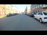 Тест экшн камеры EKEN H9 / H9R 1080p 60 fps на велосипеде днем