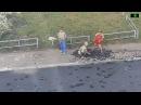 Под Челябинском дети голыми руками вскрыли асфальт