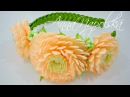 Веняний обруч з хризантемами канзаши Весенний ободок с хризантемами Spring headband kanzashi