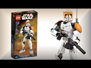 Лего Звездные войны 75108 Клон коммандер Коди - Star Wars Clone Cody buildable figure review