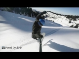 Riding in deep powder at wild mountain with favorite music in my ears