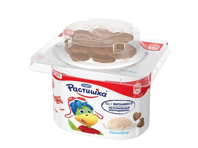 Йогурт со вкусом нежного пломбира и печенья