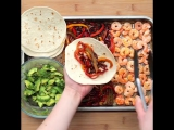 4 shrimp sheet pan tacos